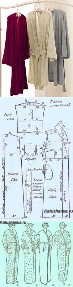 padrão manto simples com o cheiro |  Katyushenka Roo - o mundo da costura