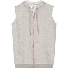 Zoe Karssen Hooded jersey top (£47) ❤ liked on Polyvore featuring tops, hoodies, grey, grey top, zip top, zoe karssen, jersey hoodies and hooded tops