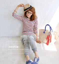 stripe basque T-shirt from Japan