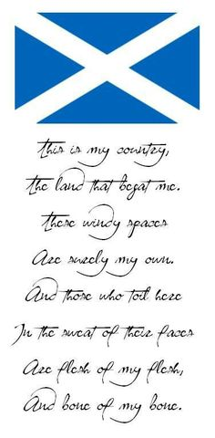 Scottish saying