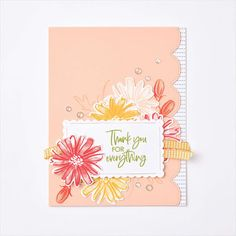 The Craft Spa - Stampin' Up! UK independent demonstrator - Order Stampin Up in UK: Saturday Six & another swap... Swing Card, Color Contour, Easel Cards, Card Tutorials, Stampin Up Cards, Colorful Flowers, Thank You Cards, Paper Crafts, Ink