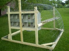 Possible chicken tractor using livestock panels.
