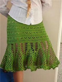 Dos faldas verdes - DE  MIS  MANOS  TEJIDOS  Y  MAS...