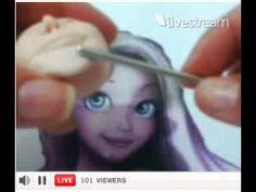 ▶ Aula Rapunzel em biscuit - 1a parte. - YouTube