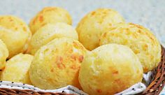 Pão de queijo is a small, baked, cheese roll, a popular snack and breakfast food in Brazil.