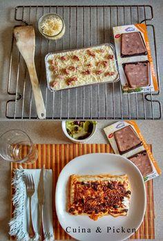 Original receta de Lasaña con productos de La Cuina y Picken. Y si además lo acompañas con unas tostadas de Paté de Campagne de La Cuina y una ensaladita, ¡menú rico, completo y saludable!