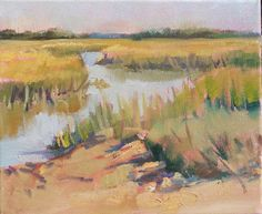 "Mary's Paintings: ""Golden Tidal Creek""  SOLD! maryspaintingaday.blogspot.com"
