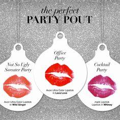 Hello, Mistletoe! #perfectpartypout #holidaylipstick #lipstick