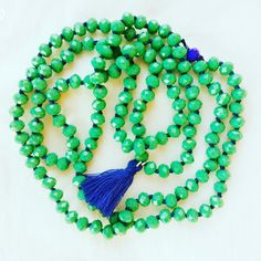 Green And blue necklace # handmade by # Frago-là