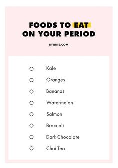 Foods to eat while on your period health facts, health tips, coconut health benefits Period Bloating, Health And Wellness, Health Fitness, Women's Health, Health Facts, Bone Health, Hair Health, Fitness Hacks, Fitness Nutrition