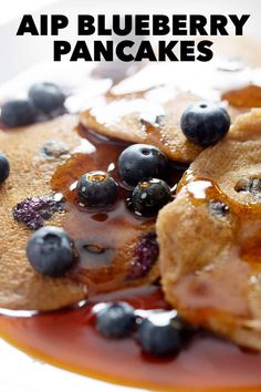 If you want a quick and delicious AIP breakfast, start with these AIP Blueberry Pancakes. These AIP Pancakes are perfect for not just your AIP and Paleo friends but also Vegan. Healthy Vegan Breakfast, Savory Breakfast, Healthy Breakfasts, Free Breakfast, Breakfast Ideas, Healthy Eating, Allergy Free Recipes, Paleo Recipes, Brunch Recipes