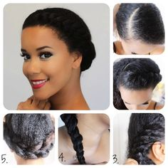 halo twist Protective Style Tutorial by Samantha at Loxa Beauty