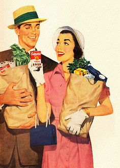 campbell's soup...1951 ... and paper grocery bags ...