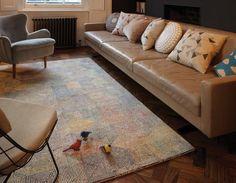 Teppich Wohnzimmer Carpet Modern Design CAMDEN ABSTRAKT RUG Wollteppich Gnstig