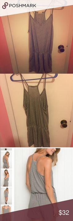 Nwot brandy Melville striped romper Never worn. Comfy striped romper... Perfect for summer days. One size fits all Brandy Melville Dresses Mini