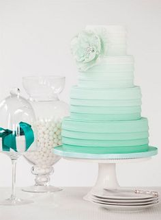 Mint green ombre.... I am in love!