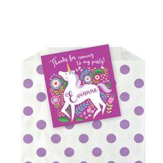 Unicorn Favor Tag - Gift Tag, Hang Tags, Thank You Tags, woodland unicorn theme