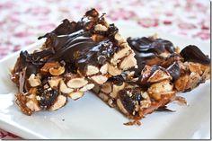 Chocolate Cherry Cashew Bars  (Like a Kind Bar)  recipe @ Peas and Thank You