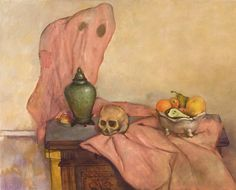 """Original Steve Binetti painting. Title: """"Still Life with Ghost"""".  Oil on canvas.  Signed on the backside """"Steve Binetti Still Life with Ghost 2007"""". Size: 100 x 80 x 4 cm.  (please note: dimensions are given in centimeters) Weight: ca. 2800 gr. Shipping weight ca. 4500 gr. Condition: perfect."""