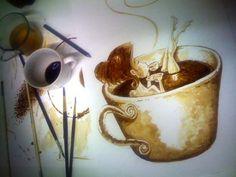 Dirceu Veiga который рисует картины из кофе » Фото, рисунки