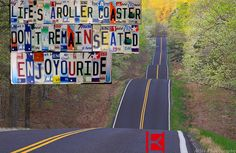 The love of a road trip with your friends.  Life's a roller coaster. Don't remain seated. @ENJOYOURIDE #EYR www.looseleafbrands.com