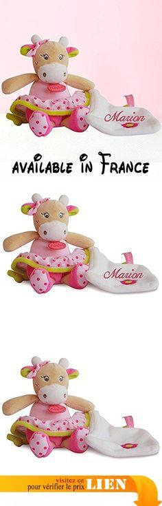 Doudou à broder avec prénom - Baby Nat - Coquilette la vache - cadeau personnalisé naissance - liste de naissance.  #Guild Product #GUILD_BABY