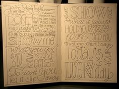 #Sketchbooks #typography - Marina Chaccur