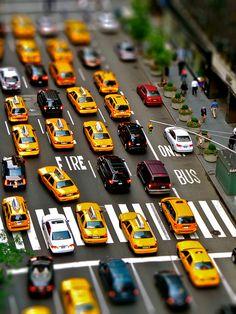 "Taxis, New York, United States ""tilt shift photography"" New York City, Voyage Usa, Voyage New York, Wyoming, Tilt Shift Photos, Maryland, Tilt Shift Photography, Street Photography, New York"