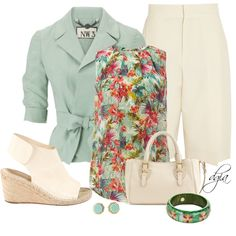 """Bermudas & Blazers"" by dgia on Polyvore"