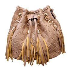 Trendy Weaving and Tassels Design Women's Crossbody Bag