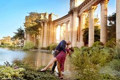 Lovely couple enjoy each other in the San Francisco Engagement Palace of Fine Ar. Lovely couple enjoy each other in the San Francisco Engagement Palace of Fine Art Engagement Couple, Engagement Shoots, Engagement Ideas, San Francisco, Palace Of Fine Arts, Pre Wedding Photoshoot, Couple Posing, Photoshoot Inspiration, Beautiful Sunset
