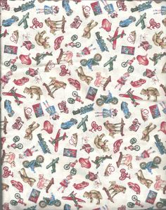 "Toys Airplane Top Truck Fabric Cotton/Cotton Blend 20"" x 44""W Sewing Quilting  #RoseHubble"