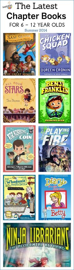 The latest chapter books for 6 to 12 year olds.