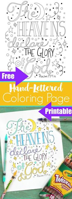 Hand-Lettered Bible Verse Coloring Sheet, free coloring page from pitterandglink Bible Coloring Pages, Adult Coloring Pages, Coloring Sheets, Coloring Books, Kids Coloring, Scripture Doodle, Tips & Tricks, Bible For Kids, Bible Lessons