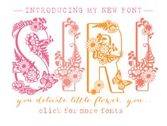Fun, flirty, feminine font Mila. A couple fonts I've been working on • if you are looking for girlie, look no further — Nonna Illustration & Design