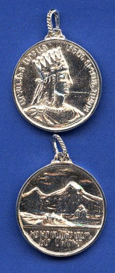 Silver King Dikran and Mount Ararat Pendant