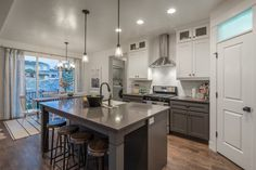 Kitchen Decor with hextagon titles Idea Gallery | EDGE Homes