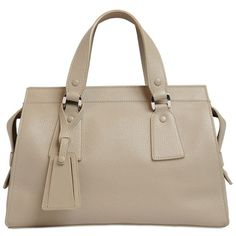 Giorgio Armani Women Le Sac 11 Leather Top Handle Bag (21.929.560 IDR) ❤ liked on Polyvore featuring bags, handbags, shoulder bags, beige, genuine leather shoulder bag, genuine leather handbags, leather handbags, beige handbags and leather purses