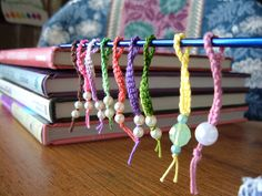 Simply Crocheted Stitch Markers and other great gift ideas for crafters! Make them now for holiday gift giving! <a href=http://www.mooglyblog.com/last-minute-crochet-gifts-30-free-patterns/>Not supported by mobile. Click to view original post</a>