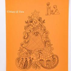 Cartone disegnato per addobbo natalizio in pizzo Cantù Bobbin Lace Patterns, Tatting Patterns, Crochet Patterns, Advanced Embroidery, Hand Embroidery, Embroidery Designs, Thread Crochet, Filet Crochet, Point Lace