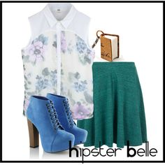 """hipster belle"" by ponyboy-and-stargirl on Polyvore"