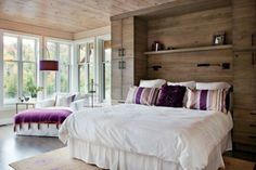 Lots of natural light/windows, wood, mellow pallet with pops of color... :)