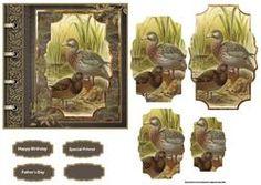 Kaart van de Vogel Familie Met Piramide stapelen