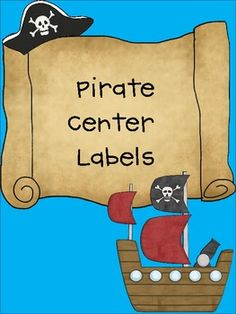 This is the perfect center labeling system for your pirate themed classroom! There are 21 larger center labels, including ABC, Art, Big Book, Book .....email author for block center label