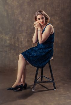 Portrait by Dennis Yulov Army Green, Backdrops, Portrait, Middle, Dresses, Gold, Fashion, Surface Finish, Vestidos