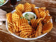 YUM..... #meganandliz #fries #french #waffle #delicious #food #giveme