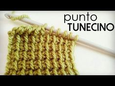 Punto Tunecino (Punto Básico o Punto Simple de Crochet Tunecino) - YouTube