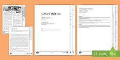 English Language GCSE EDUQAS Style Exam Paper 2