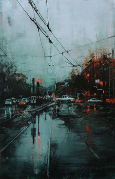 Lindsey Kustusch   Cityscape painter   Tutt'Art@   Pittura * Scultura * Poesia * Musica  