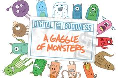 A Gaggle of Monsters by Digital Goodness on Creative Market